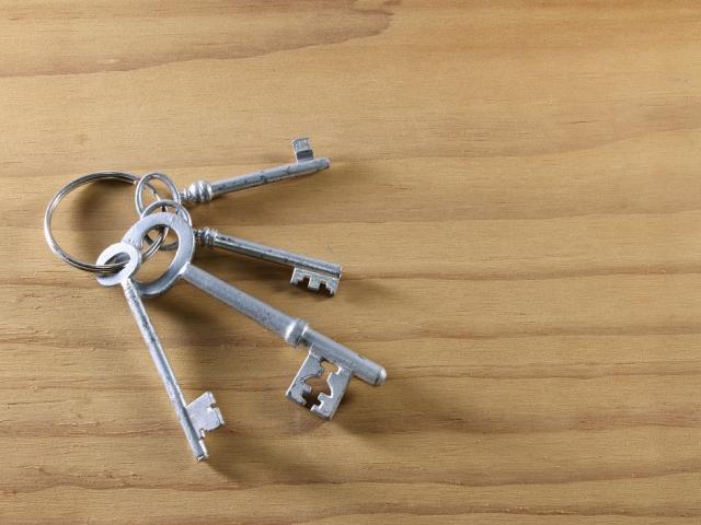 връзка с ключове поставени на плот